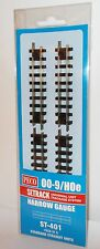 PECO St-411 Double Straight Narrow Gauge Track (pack of 4) 009 Oo9 Hoe