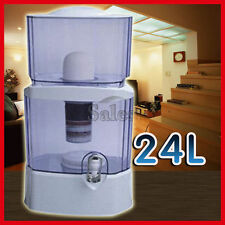 24L Water Filter Bench Top Bottle Dispenser Ceramic Carbon Mineral Purifier