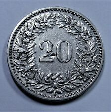 Schweiz 20 Rappen 1902 B - HELVETIA - fast vorzüglich / near xf