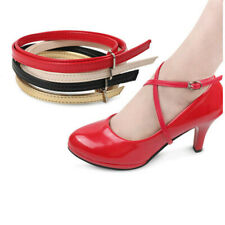 Women Arrive Cross-tied Pointed Toe High-heeled Pumps Lace-up Shoelace YO