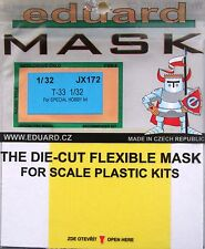 Eduard 1/32 JX172 canopy mask for the special hobby T-33 shooting star kit