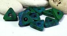 Mykonos Greek Ceramic Triangle Washer Beads, Aegean, SRA, UK