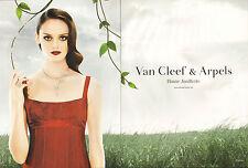 Publicité 2008 (double page) VAN CLEEF & ARPELS haute joaillerie bague collier