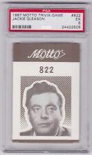 1987 MOTTO TRIVIA GAME JACKIE GLEASON CARD #822 PSA 5 EX CONDITION