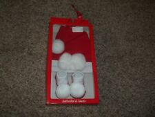 Infant Girl Christmas Santa Hat & Socks By Essentials Nib