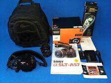 Sony SLT-A57 DSLR Camera Minolta Maxxum AF 24mm f2.8 Lens Backpack RemoteSwitch
