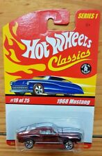 HOT WHEELS 2005 CLASSICS SERIES 1 #19 1968 MUSTANG SPECTRAFLAME BRN/WINE? (A+/A)