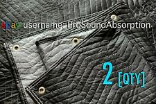 Sound Absorption Blanket [2 QTY - PAIR] BIG Grommets Hanging Instant Vocal Booth