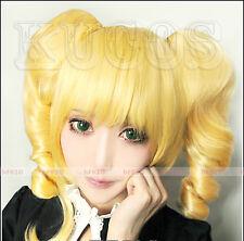 Anime Black Butler Elizabeth Midford Curly Cosplay Full Wig + Track No.+ Wig cap