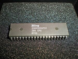 Zilog Z80 Z-80 CPU chip Z0840006PSC.  New older stock IC.