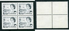 MNH Canada 6 Cent Centennial Hibrite Block of 4 #460ii (Lot #8961)