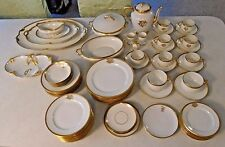 Antique GDA Limoges France GOLD TRIM Dinnerware Set