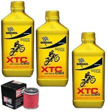 KIT TAGLIANDO BARDAHL XTC 10W50 4 T CROSS + FILTRO OLIO YAMAHA YZ 250 F 2011