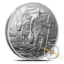 1 oz Engelhard Provident Prospector Silver Round .999 Fine