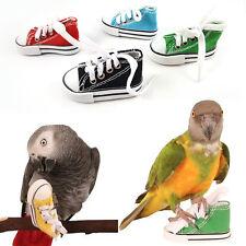 Hot Mini Canvashoes Bird Toy Parrot Cage Craft TraningToys Cockatiel Foot/Toy DE