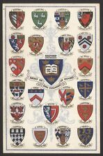 """Oxfordshire Oxford University"""" Arms of the Colleges of Oxford"""" Vintage Postcard"""