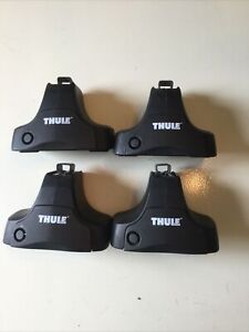 Thule 480R Rapid Traverse Foot Pack 4 Feet Roof Rack with tools Nice Condition