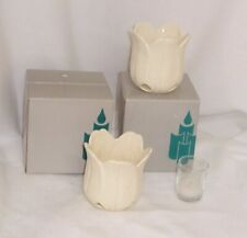 PartyLite Petal Light Tealight or Votive Holder Pair With Tealights