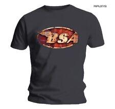 Official T Shirt BSA British Motorbike Grey Classic Logo Vintage Motorcycle XL