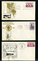 US Cover FDC 3x Early Crosby w/ Stamps #856,857
