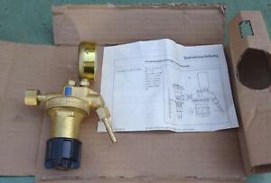 MESSER Entnahmestellen Druckminderer 0-10 bar Sauerstoff Druckregler Manometer