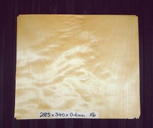 REAL WOOD VENEER X4 CURLY MAPLE,CRAFTS,FURNITURE,INSTRUMENTS,MARQUETRY,PANELS