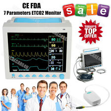 US Seller, Capnograph CO2 Patient Monitor ETCO2 Vital Signs 7 Parameters,FDA/CE