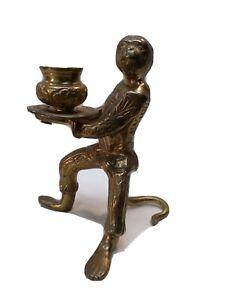 Vintage  Brass Monkey Candleholder