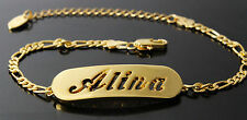 Name Bracelet ALINA 18ct Gold Plated Birthday Wedding Bridesmaid Gifts For Her