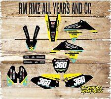 Suzuki RM H. 65 85 125 250 450 kit de gráficos de Motocross calcomanías Pegatina Kit x