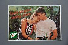 R&L Postcard: 7Up Drink Advert, 1980s Fashion Rain Male See Through T-Shirt