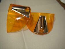vintage style amber transparent 7 inch head light visors headlight visor eye lid