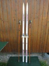 "NICE Ready to Use Cross Country 77"" Long KARHU 200 cm Skis +  Poles"