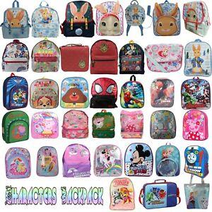 KIDS CHILDREN'S CHARACTER BACKPACK RUCKSACK PRIMARY / SECONDARY SCHOOL BAG