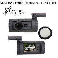 Mini 0826 Ambarella A7LA50 Super HD 1296P Car GPS Mount Dash Camera DVR Cam CPL