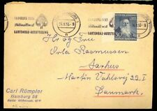 Germany #B330 Cover Hamburg to Denmark 24.8.53 Cds Henri Dunant