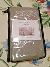 Nwt Laura Ashley Lifestyles Grey Flower Embroidered European Pillow Sham