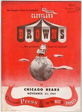 1951 Browns Bears Dub Jones NFL Record 6 TD's