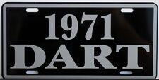 1971 71 DODGE DART METAL LICENSE PLATE 170 270 GT SWINGER 273 318 340
