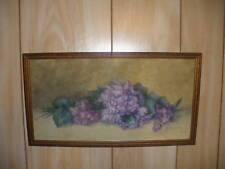 ANTIQUE WATERCOLOR STILL LIFE FLOWERS PAINTING LISTED