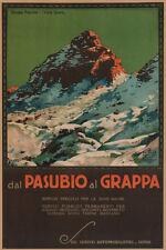 DAL PASUBIO vintage Travel poster AL GRAPPA italy 24X36 top quality very rare