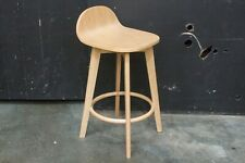 Hawthorn Bar Stool - Natural Finish with Timber Seat