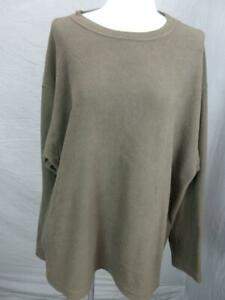PATAGONIA MICRO DLUXE SIZE L MENS BROWN OUTDOOR LONG SLEEVE FLEECE PULLOVER T460