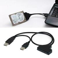 """SATA 7+15 Pin 22Pin to USB 2.0 Cable Adapter For 2.5"""" Disk HDD Laptop Drive Z7H2"""