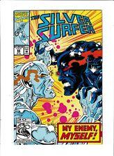 Silver Surfer Marvel Comics #64 FN+ 6.5 Black Body app. 1992
