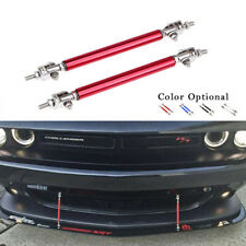 2x Red 7.5cm Adjustable Bumper Lip Air Splitter Support Rods Strut Tie Bar