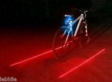 E47B Bicycle Bike Rear Tail Safety Warning 5 Blue LED 2 Red Laser Flashing Light