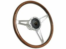1965 - 1970 Ford Falcon Wood S9 Steering Wheel Kit w/ Falcon 3D Foil Emblem