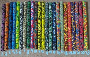 """Rod Building Wrapping Colored Camo Foam Handles 17"""" long 1 1/4"""" OD 3/8"""" ID"""