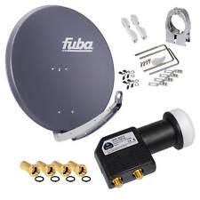 FUBA DAA 850 Alu SAT Antenne Spiegel 85cm Schüssel + Premium 4K Twin HB LNB HD